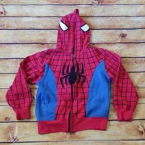 Spiderman Hoodie Jacket, Boys Size 5